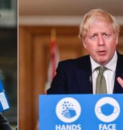 Andy Burnham och Boris Johnson.  TT