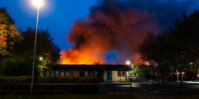Brand i Gottsundaskolan. Staffan Claesson¨/TT / TT NYHETSBYRÅN