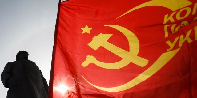 Sovjetflagga. Arkivbild. Darko Vojinovic / TT NYHETSBYRÅN