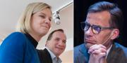 Magdalena Andersson (S), Stefan Löfven (S) och Ulf Kristersson (M). TT