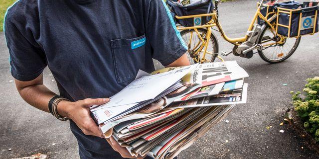 Brevbärare från Postnord.  Tomas Oneborg/SvD/TT / TT NYHETSBYRÅN