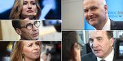 Började valrörelsen med förslaget om vinsttaket? Partiledarna Ebba Busch Thor (KD), Ulf Kristersson (M), Annie Lööf (C), Jonas Sjöstedt (V) och Stefan Löfven (S). TT