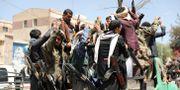 Anhängare till Jemens Huthirebeller. KHALED ABDULLAH / TT NYHETSBYRÅN