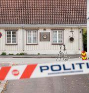 Polisavspärrning i Kongsberg Terje Pedersen / TT NYHETSBYRÅN