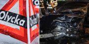 Illustrationsbild/En av de kraschade bilarna i Kramfors. TT/Räddningstjänsten