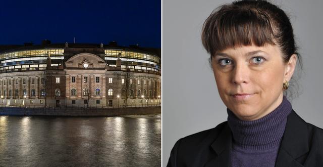 Riksdagsledamoten Emma Carlsson Löfdahl.  TT