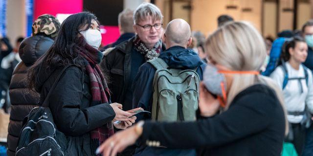Människor på Köpenhamns flygplats. Johan Nilsson/TT / TT NYHETSBYRÅN