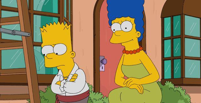 Bart och Marge Simpson. TT / NTB Scanpix