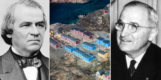 Andrew Johnson, Grönland, Harry Truman Wikicommons/TT