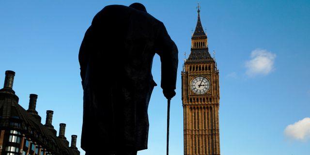 Illustrationsbild: En staty av Storbritanniens forne premiärminister Winston Churchill i London.  Luke MacGregor / TT NYHETSBYRÅN
