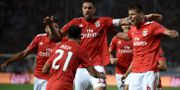 Benfica jublar. Giannis Papanikos / TT NYHETSBYRÅN