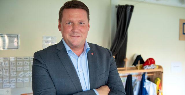 Arkivbild: Kommunals förbundsordförande Tobias Baudin. Jessica Gow/TT / TT NYHETSBYRÅN