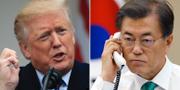 Donald Trump och Moon Jae-in. TT