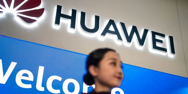 Huawei.  FRED DUFOUR / AFP