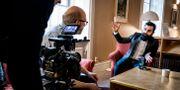 Hanif Bali, riksdagsledamot för M, fotograferad i riksdagen när han blir intervjuad av BBC World News, 24 januari. Magnus Hjalmarson Neideman/SvD/TT / TT NYHETSBYRÅN