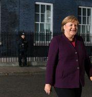 Angela Merkel lämnar 10 Downing Street Daniel Leal-Olivas / TT NYHETSBYRÅN