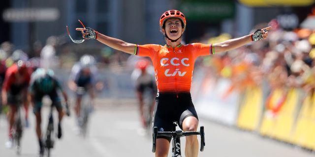 Marianne Vos vann årets upplaga av La Course. Christophe Ena / TT NYHETSBYRÅN/ NTB Scanpix