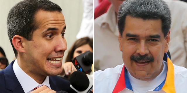 Juan Guaidó och Nicolás Maduros  TT