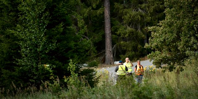 Frivilliga organisationen Missing People deltar i en sökinsats för den tolvåriga pojke. Erik Simander/TT / TT NYHETSBYRÅN