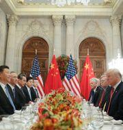 Xi Jinping och Donald  Trump. Pablo Martinez Monsivais / TT NYHETSBYRÅN