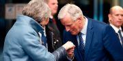 Theresa May och EU-förhandlaren Michel Barnier möts i Strasbourg i veckan. Vincent Kessler / TT NYHETSBYRÅN/ NTB Scanpix