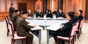 Ett möte mellan Syd- och Nordkoreas diplomater i Pamunjom. TT NYHETSBYRÅN/ NTB Scanpix