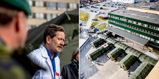 Bertil Andersson, chef intensivvården vid Östra sjukhuset/Nya fältsjukhuset TT