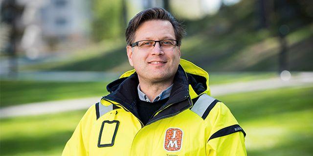 Tommy Hellmark, projektledare och områdesansvarig för Älvsjöstaden på JM. JM