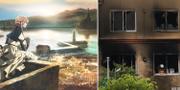 """""""Violet Evergarden"""" och det utbrunna huset i Kyoto i Japan. Kyoto Animations / TT"""