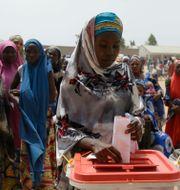 I helgen var det presidentval i Nigeria. Sunday Alamba / TT NYHETSBYRÅN/ NTB Scanpix