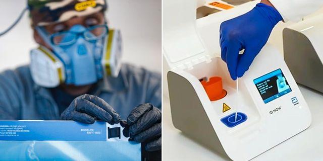 Det nya testet till höger. TT/Abbott Laboratories