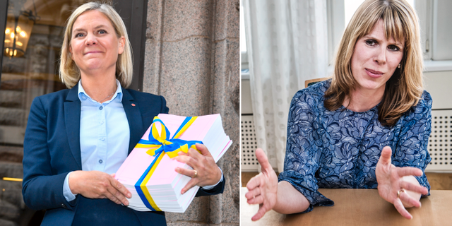 Magdalena Andersson och Kristin Magnusson Bernard. TT