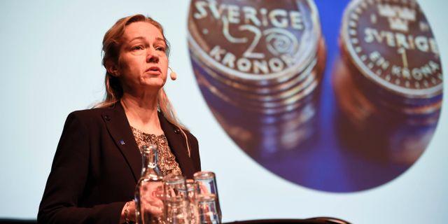 Riksbanken kan tanka sig e krona