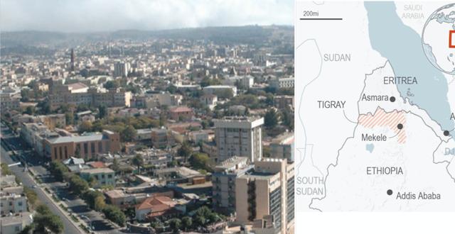 Asmara / Tigray ligger vid Etiopiens gräns mot Eritrea Wikimedia Commons / TT