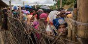 Rohingyer i flyktinglägret Cox's Bazar i Bangladesh. Arkivbild. ED JONES / AFP