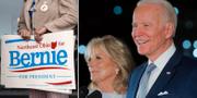 Joe och Jill Biden (t h). TT