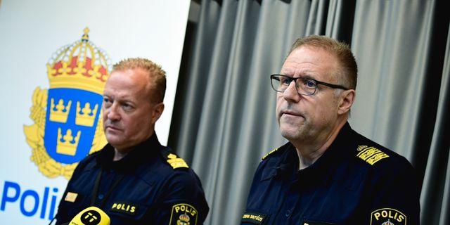 éus under pressträffen.Roberts och Sint Johan Nilsson/TT / TT NYHETSBYRÅN