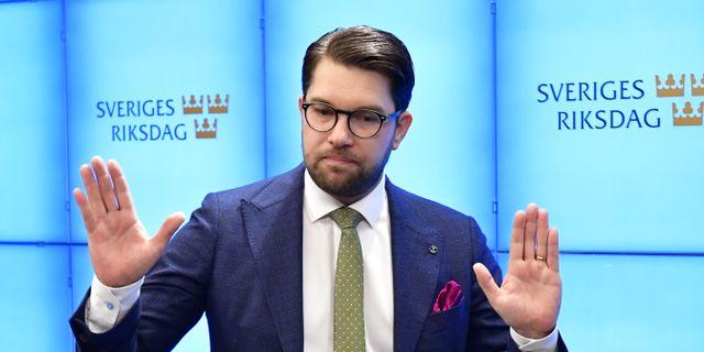 Jimmie Åkesson. Jonas Ekströmer/TT / TT NYHETSBYRÅN