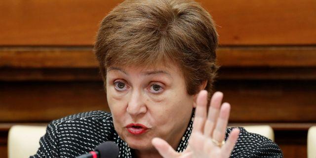 IMF-chefen Kristalina Georgieva. Remo Casilli / TT NYHETSBYRÅN