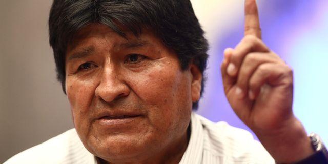 Evo Morales, Bolivias tidigare president. EDGARD GARRIDO / TT NYHETSBYRÅN