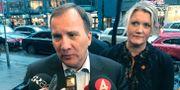 Statsminister Stefan Löfven och partisekreterare Lena Rådström Baastad.  Lars Larsson/TT / TT NYHETSBYRÅN