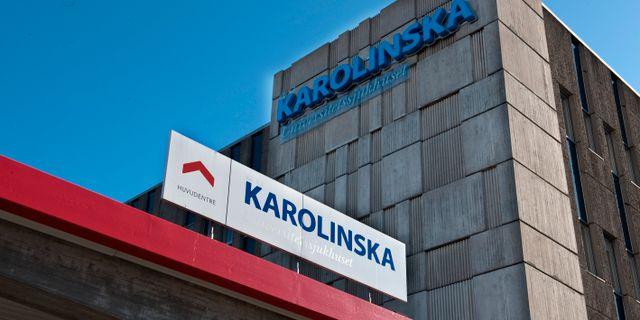 Exteriörer på Karolinska Universitetssjukhuset i Huddinge. Arkivbild. Bertil Ericson / TT / TT NYHETSBYRÅN