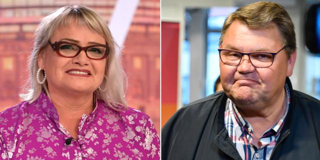 Soraya Post (Fi) och Peter Lundgren (SD). TT