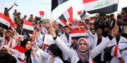 Studenter i protest i Basra, Irak. Nabil al-Jurani / TT NYHETSBYRÅN