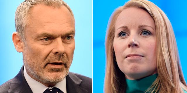 Jan Björklund (L) och Annie Lööf (C). TT