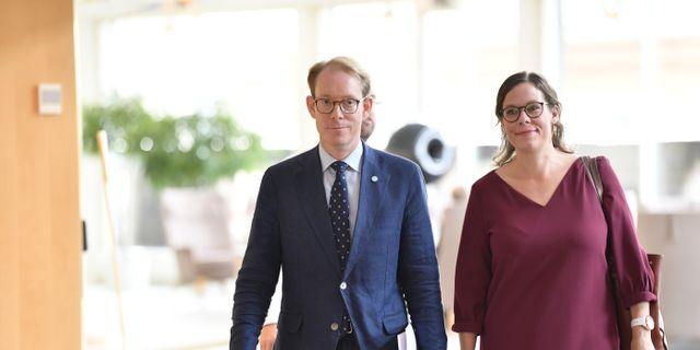 Tobias Billström och Maria Malmer Stenergard (M) Jessica Gow/TT / TT NYHETSBYRÅN