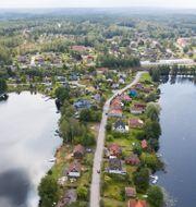 Hus i samhället Björneborg i Kristinehamns kommun. Fredrik Sandberg/TT / TT NYHETSBYRÅN
