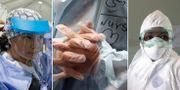 Sjuksköterskor i USA, Iran och Zimbabwe. TT