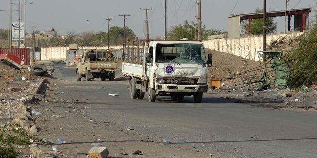 Regeringstrogna styrkor utanför Hodeida. - / AFP