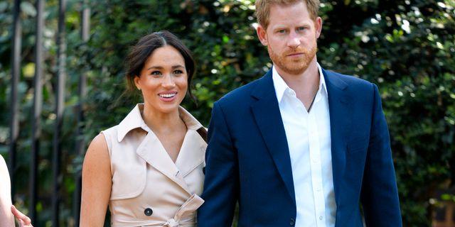 Hertiginnan Meghan Markle och prins Harry. Dominic Lipinski / TT NYHETSBYRÅN